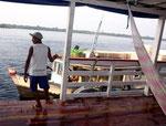 Unsere Freunde legten mit ihrem Boot an.