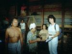Besuch im Dayak-Dorf Ledag Kidau.