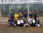 2/19坂浜SC招待サッカー大会:8チーム参加中3位!!よくやった!