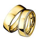 """Saint Maurice Trauringe/Eheringe Infinity 49/880370-49/881370 Großartige und glänzend polierte 6,5 mm breite Eheringe, hier in Gelbgold abgebildet, von den Handwerksmeistern der Trauringmanufaktur Saint Maurice. Die Kleinode aus der """"Infinity"""" Kollektion"""