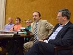 Na fotografiji z leve Ferruccio Tassin, Nevenka Troha, Boris Pahor, Carlo Spartaco Capogreco in Ivo Jevnikar
