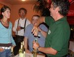...beim Wein der Hochosterwitzer Winzer