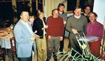 4/2002 bei der Weinkeller-Einweihung Leitenbauer mit BGM Seunig, KELAG Prok. Klimbacher, OA Hammerschlag, Rektoren Stromberger und Premur.