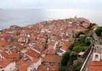 Wieder in Piran am Kirchturm, Blick nach Süden ohne...