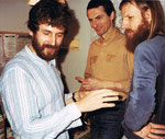 12/1984 mit den Musiker Julian Horky und Dick Sells, Konzert in Deutsch Wagram