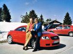 4/2004 in Salzburg mit Audi Entwicklungschef Gerd Soder