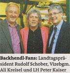 09/2013 Mit LH Peter Kaiser und Landtagspräsident Rudi Schober beim Backhendlfest