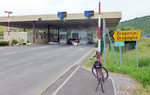 beim kroatischen Grenzübergang