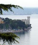 Blick auf Schloss Miramar