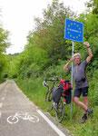Die Slowenische Grenze erreicht