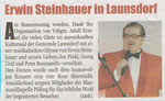 26.2. Erwin STEINHAUER in Launsdorf