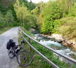 schöner Radweg entlang der Vellach