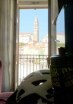 Blick aus meinem Hotelzimmer in Piran
