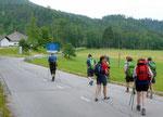die österreichische Grenze erreicht