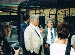 7/2000 mit Dir. Helmut Pechlarner im Tiergarten Schönbrunn