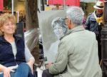 bei den Künstlern in Montmatre