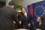 4/2003 Angelobung zum Vize BGM mit Bezirkshauptmann Dieter Kalt