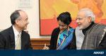 インドモデイ首相とインドのインフラ事業で会談