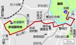 皇居から両殿下のお住い赤坂御苑のパレード図