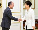 孫氏の母国 韓国朴槿恵大統領と会談 IT戦略