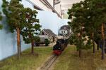 Der Morgenzug verlässt Baabe in Richtung Putbus