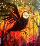 激情の中黒い鳥が飛ぶ