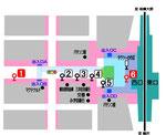 湘南台駅西口バス停案内図