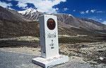 Pakistanisch-Chinesische Grenze am Khunjerab-Pass (4.693 m)