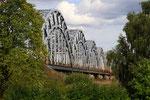 Eisenbahnbrücke über die Düna, Riga, Lettland