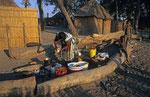 Dorf im Okavango-Delta