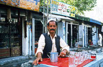 Wasserverkäufer in Gilgit, Pakistan