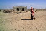 Dorf in der Nähe des Lac Abbe, Dschibuti