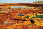 Säurevulkan Dallol, Danakil-Senke, Äthiopien