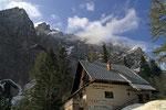Berggasthof Koča na Gozdu unterhalb des Vršič Passs, Julische Alpen, Slowenien