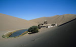 Wüste Gobi, Mondsichelsee bei Dunhuang, Provinz Gansu, VR Cina