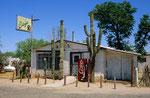Straßencafe südwestlich von Tucson, Arizona