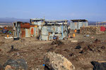 Siedlung in der Nähe des Lake Afrera, Äthiopien
