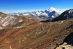 Blick vom Chacaltaya zum Huayana Potosi (6.088 m), Bolivien