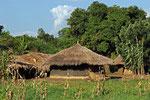 Hütten bei Nakitoma, Uganda