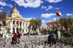 Parlamentsgebäudel, Placa Murillo, La Paz, Bolivien