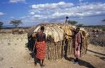 Samburu-Hütte, Kenia