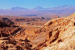 Blick von Pietra del Coyote nach San Pedro de Atacama, Chile