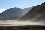 Staubwolken im Tal des Kali Gandaki bei Kagbeni, Mustang