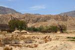 Ansiedlung am Rande der Wüste Dascht-e Lut