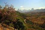 Blick zu den Semien-Bergen