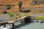 Brücke über den Kuldscha-Fluss, Kirgistan