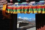 Dhaulagiri-Massiv vom Kloster Jharkot aus, Muktinath, Mustang