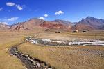 Kirgisen-Jurten im Psaret Tal am Gumbez kol, Pamir, Tadschikistan