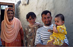 Tadjik-Familie, Passu, Karakorum, Pakistan
