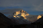 Mount Everest (8.848 m) im Abendlicht